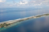 A skinny section of Majuro Atoll, the capital of the Marshall Islands